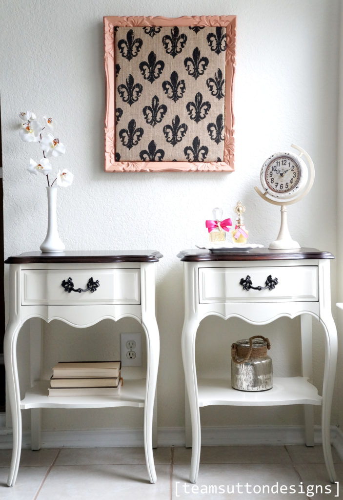 Old Bedside Table: French Provincial Tables In Java And Antique White