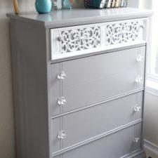 Armada Dresser in Pebble Beach & White Lacquer