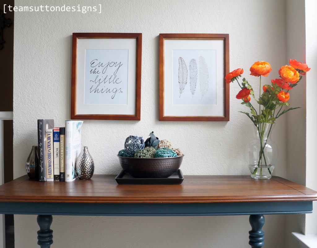 Console Table In Quot Homestead Blue Quot The Driftwood Home