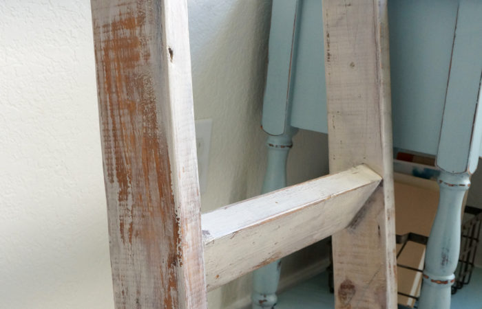Double Reveal: A blanket ladder and side table