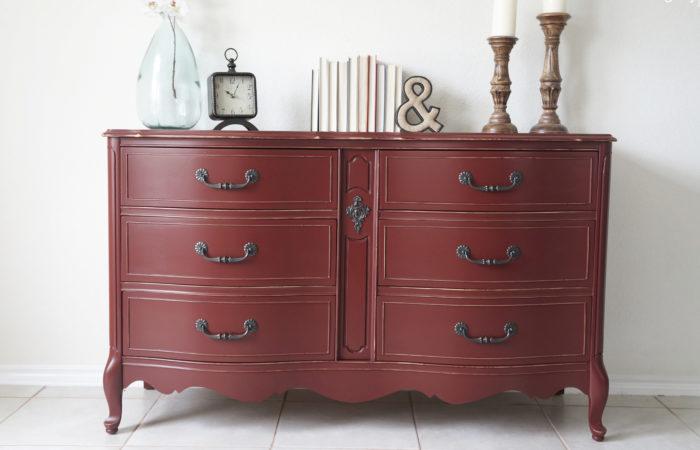 Sangria Red Dresser