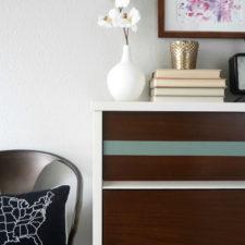 Striped MCM Dresser
