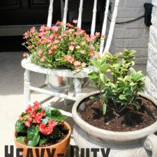 DIY Heavy Duty Chair Planter