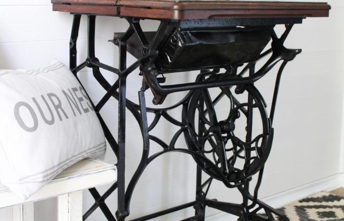 Sewing Machine Restoration using EvenGrain Stain