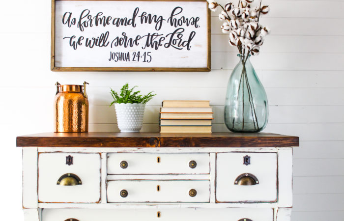 Empire Dresser with Plank Top
