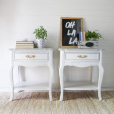 Gray & White French Provincial Tables