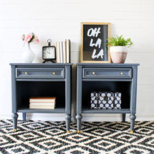 MCM Glam End Tables in Soapstone